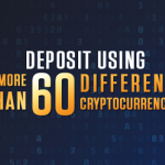 Deposit using 60 Different Cryptocurrencies